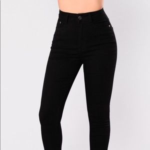 Black Scottsdale high waisted  skinny Jeans